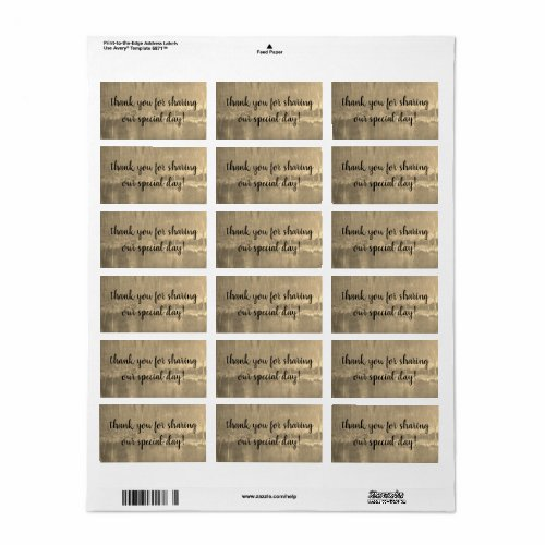 gold labels (sheet of 18) by dalDesignNZ