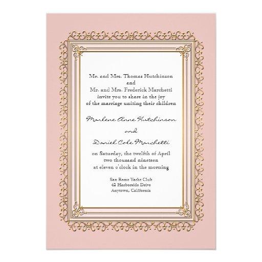 Gold & Lace Baroque Formal Elegant Wedding Invite