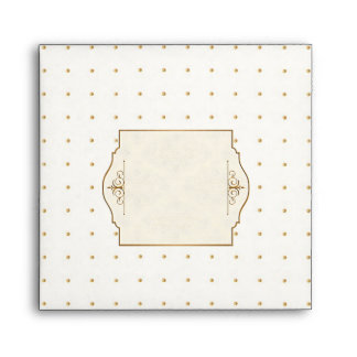 Gold & Lace Classic Formal Elegant Wedding Invite Envelope