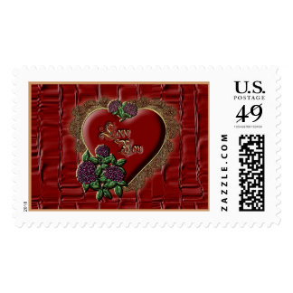 Gold Lace Heart Stamp