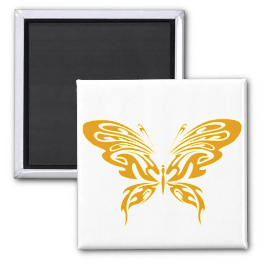 Gold Lace Refrigerator Magnet