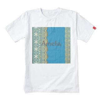 Gold lace,turqouise floral,pattern,vintage,elegant zazzle HEART T-Shirt