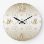 Gold Lace Wall Clock