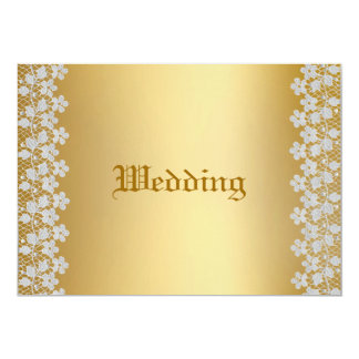 Gold & Lace Wedding Invitation
