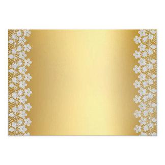 Gold Lace Wedding Invitation2 Card