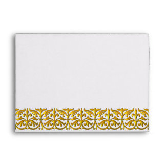 Gold Lace White Envelope