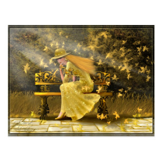 Gold Lady Postcard
