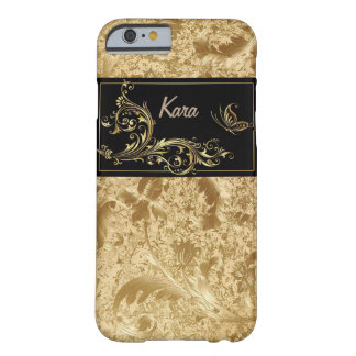 Gold Leaf/Butterfly Monogram IPhone 6 Case