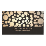 Gold Leaf Circles Look Modern and Trendy Brown Business Card Template