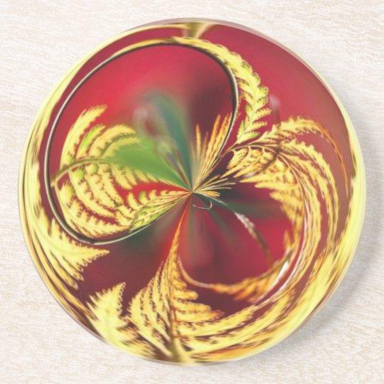 Gold Leaf Coaster