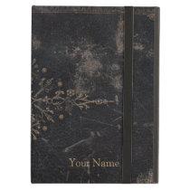 Gold Leaf Fleur-de-lis Faux Leather Cover For iPad Air