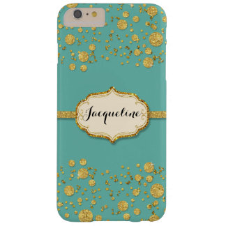 Gold Leaf Glitter Confetti Polka Dots Sparkle Barely There iPhone 6 Plus Case