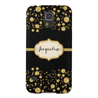 Gold Leaf Glitter Confetti Polka Dots Sparkle Case For Galaxy S5