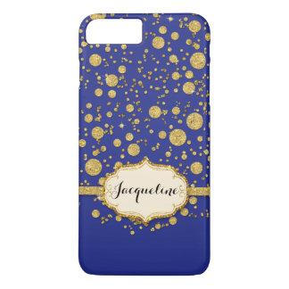 Gold Leaf Glitter Confetti Polka Dots Sparkle iPhone 7 Plus Case