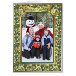 Gold Leaf Holiday Photo Card
