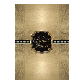 Gold Leaf Look Fleur de Lis Faux Vintage Jewel Card
