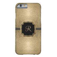 Gold Leaf Look Fleur de Lis Faux Vintage Jewel iPhone 6 Case