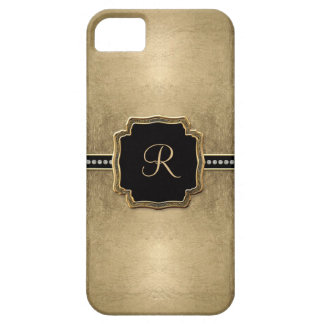 Gold Leaf Look Fleur de Lis Faux Vintage Jewel iPhone SE/5/5s Case