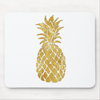gold leaf look pineapple mouse pad