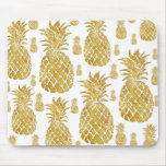 gold leaf look pineapples mouse pad