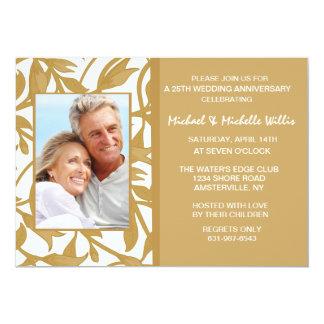 Gold Leaf Photo Invitation