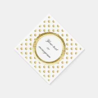 Gold leaf photo polka dots napkin
