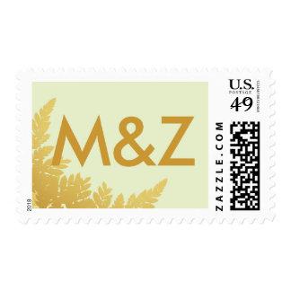 Gold Leaf Postage Stamp