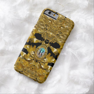 Gold Leaf Raphael  Monogram Barely There iPhone 6 Case