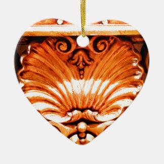 Gold_leaf_seashell_pattern.JPG Ceramic Ornament