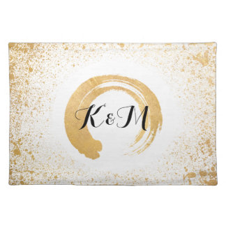 Gold Leaf Spray Cloth Placemat