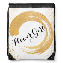 Gold Leaf Spray Flower Girl Bag