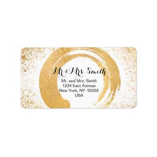 Gold Leaf Spray Postage & Stationary Label