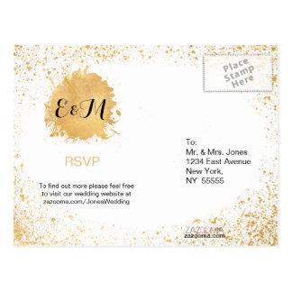 Gold Leaf Spray Postcard