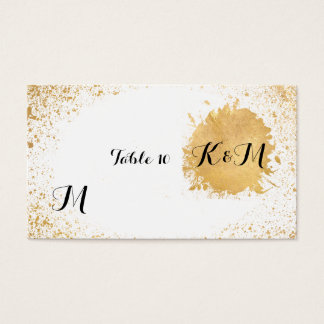 Gold Leaf Spray Reception Accessories Business Card