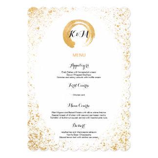 Gold Leaf Spray Reception Accessories 5x7 Paper Invitation Card