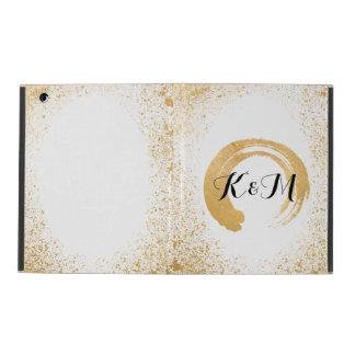 Gold Leaf Spray Wedding Gift iPad Cases