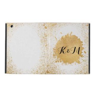 Gold Leaf Spray Wedding Gift iPad Cover