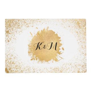 Gold Leaf Spray Wedding Gift Placemat