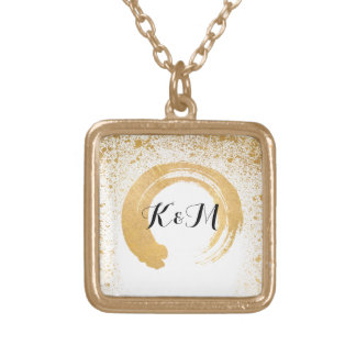 Gold Leaf Spray Wedding Gifts Gold Plated Necklace