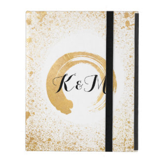 Gold Leaf Spray Wedding Gifts iPad Covers