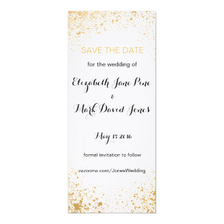 Gold Leaf Spry Save the Date card