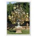 Gold Leaf Tree Greeting Cards