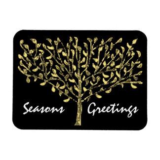 Gold Leaf Tree Holiday Premium Magnet