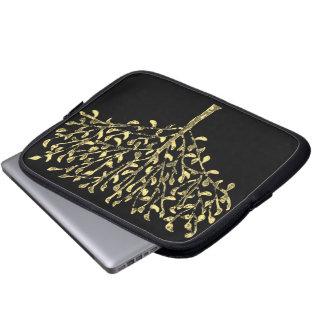 Gold Leaf Tree Laptop Sleeve
