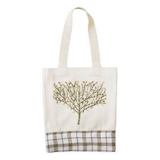 Gold Leaf Tree Zazzle HEART Tote Bag