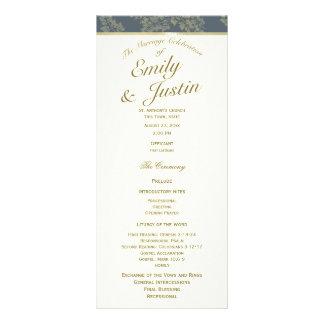 Gold Leaf Woodland Wedding Program