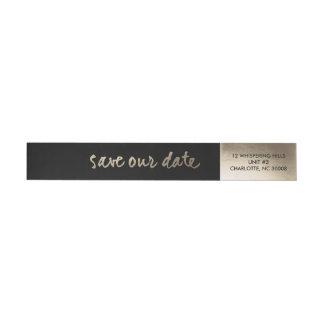 Gold leaf | Wrap around return address label Wraparound Return Address Label