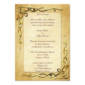 Gold Leafed Wedding Invitations
