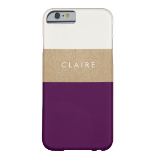 Gold leather and plum barely there iPhone 6 case
