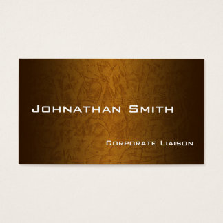 Gold Leather Modern Standard Business Cards
